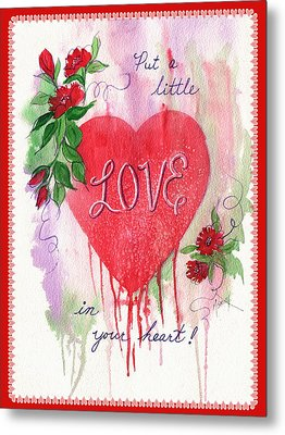 Metal Print featuring the painting Love Valentine by Marilyn Smith
