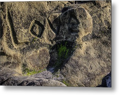Love Written In Stone Metal Print