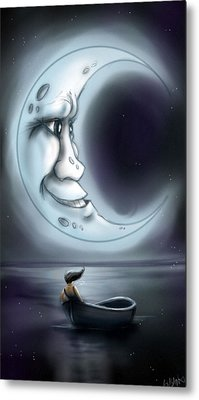 Love You To The Moon  Metal Print by Susan  Rossell