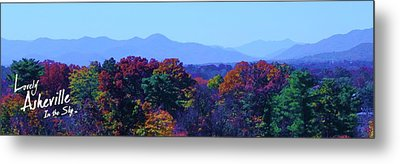 Lovely Asheville Fall Mountains Metal Print by Ray Mapp