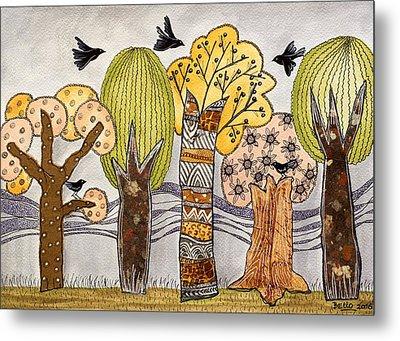 Lovely Autumn Metal Print by Graciela Bello