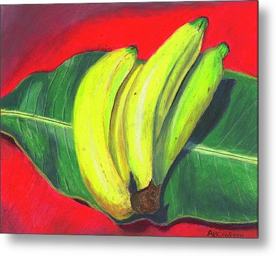 Lovely Bunch Of Bananas Metal Print by Arlene Crafton