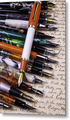 Lovely Fountain Pens Metal Print by Garry Gay