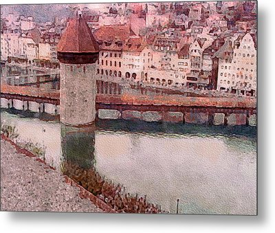 Lovely Lake Lucerne Metal Print by Susan Maxwell Schmidt
