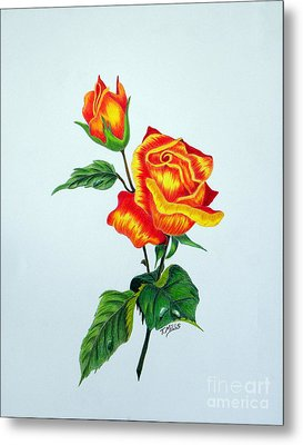 Lovely Rose Metal Print by Terri Mills