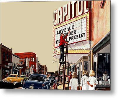 Metal Print featuring the painting Love Me Tender by Michael Swanson