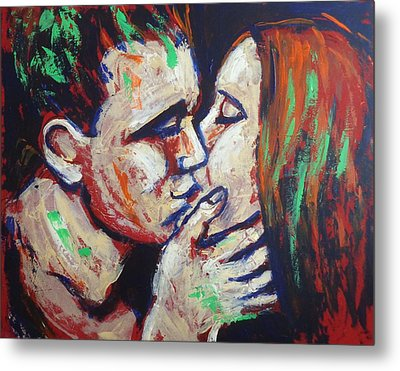 Lovers - Colours And Kisses Metal Print
