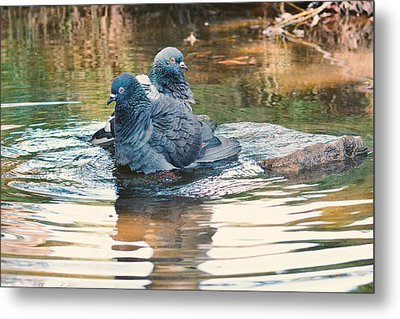 Lovers On A Hot Summer Day Metal Print