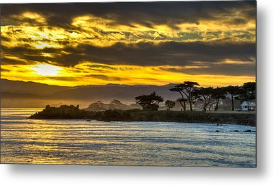 Lover's Point Sunrise Metal Print by Connie Cooper-Edwards