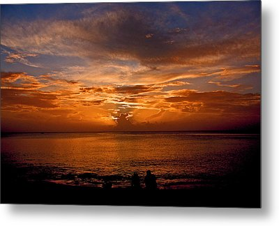 Lovers Sunset Metal Print by Martin Morehead