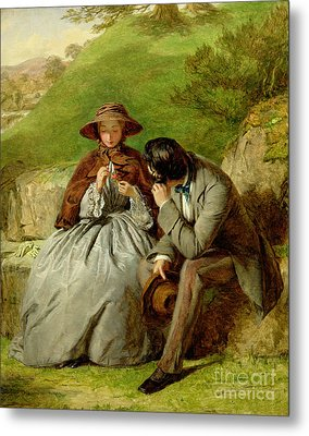Lovers Metal Print by William Powell Frith