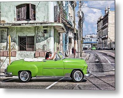 Lovin' Lime Green Chevy Metal Print