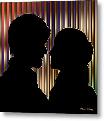 Metal Print featuring the digital art Loving Couple - Chuck Staley by Chuck Staley