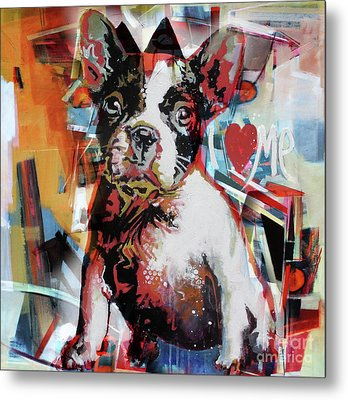 Loving Dog 44c Metal Print by Gull G