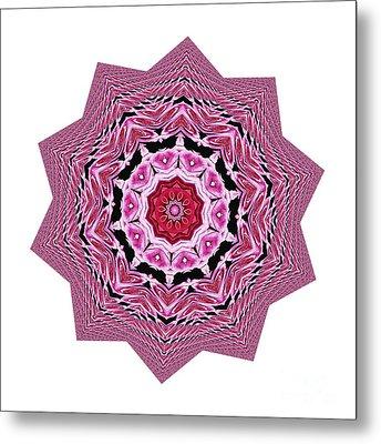 Loving Rose Mandala By Kaye Menner Metal Print
