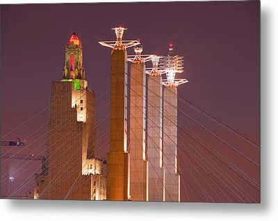 Low Angle View Of Cables Attached Metal Print by Panoramic Images