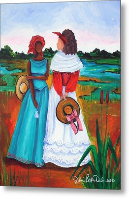 Metal Print featuring the painting Low Country Ladies by Diane Britton Dunham