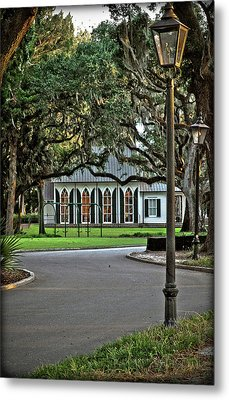 Low Country Wedding Chapel Metal Print by Margaret Palmer