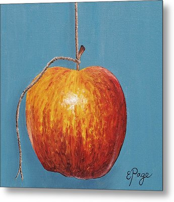 Low Hanging Apple Metal Print by Emily Page