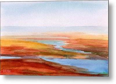 Low Tide Cape Cod Metal Print by Beverly Brown
