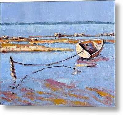 Low Tide Flats II Metal Print by Trina Teele