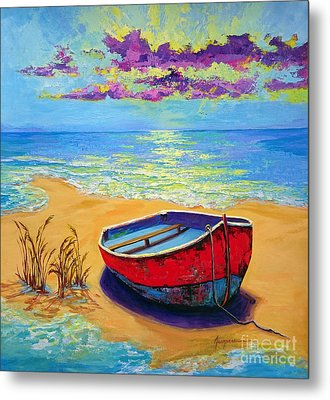 Low Tide - Impressionistic Art, Landscpae Painting Metal Print