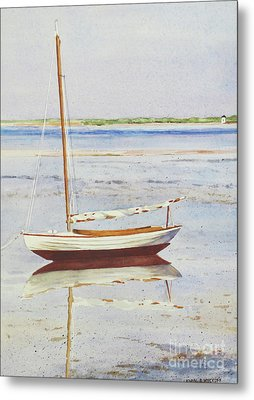 Low Tide Reflection Metal Print