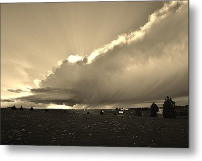 Low-topped Supercell Black And White  Metal Print