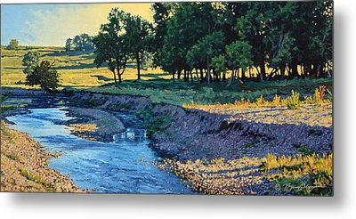 Low Water Morning Metal Print by Bruce Morrison