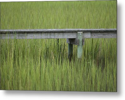 Lowcountry Dock Over Marsh Grass Metal Print by Dustin K Ryan
