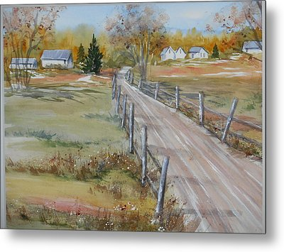 Lowcountry Road In Spring Metal Print