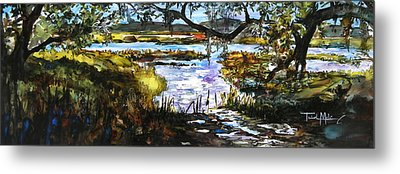 Lowcountry Summer Marsh Iv Metal Print by Trish McKinney
