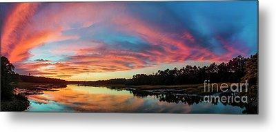 Lowcountry Sunset Charleston Sc Metal Print by Dustin K Ryan