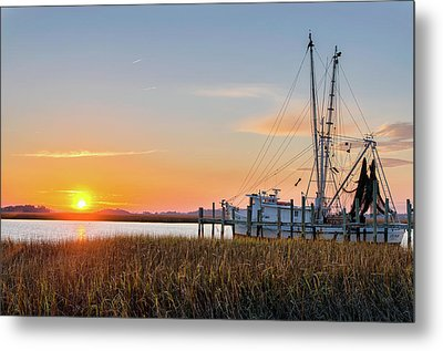 Lowcountry Sunset Metal Print by Drew Castelhano