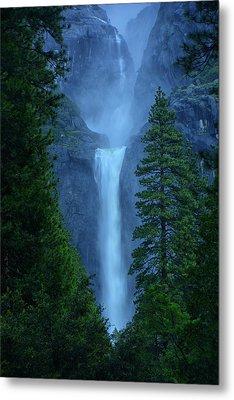 Lower And Middle Yosemite Falls Metal Print by Raymond Salani III