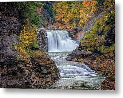 Lower Falls In Autumn Metal Print by Rick Berk