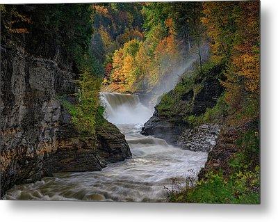 Lower Falls Of The Genesee River Metal Print by Rick Berk