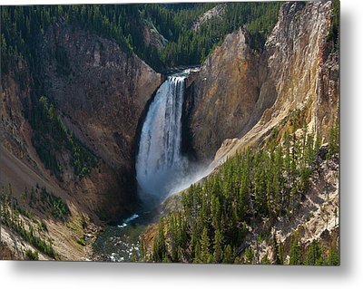 Metal Print featuring the photograph Lower Falls Of Yellowstone River by Roger Mullenhour