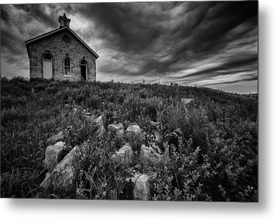 Lower Fox Creek Schoolhouse Metal Print by Rick Berk