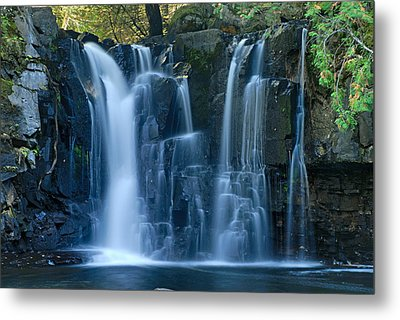 Lower Johnson Falls 2 Metal Print by Larry Ricker