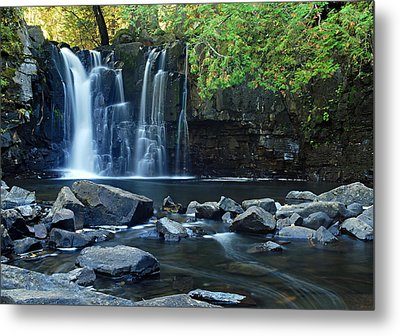Lower Johnson Falls Metal Print by Larry Ricker