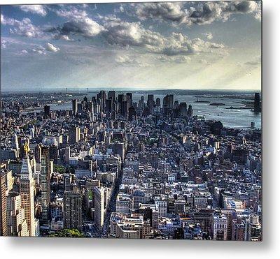 Lower Manhattan From Empire State Building Metal Print by Joe Paniccia