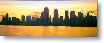 Lower Manhattan Skyline At Sunrise Metal Print by Panoramic Images