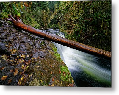 Metal Print featuring the photograph Lower Punch Bowl Falls by Jonathan Davison