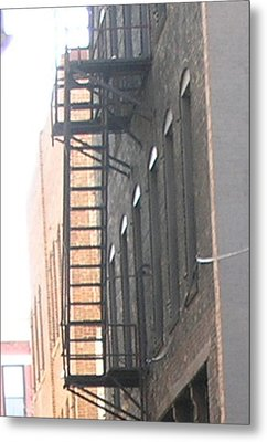Lowertown Fire Escape Metal Print by Janis Beauchamp