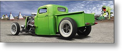 Lowrider At Painted Desert Metal Print by Mike McGlothlen