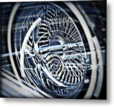 Lowrider Wheel Illusions 1 Metal Print by Walter Herrit