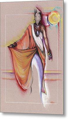 Lpr Black Woman Metal Print