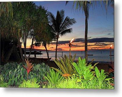 Luau Sunset Maui Metal Print by Pierre Leclerc Photography