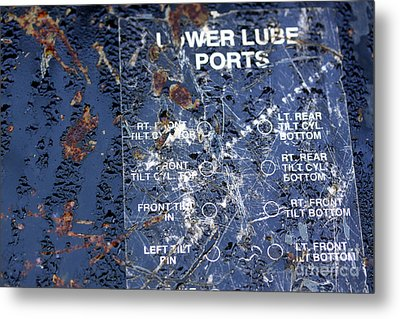 Metal Print featuring the photograph Lube Port by Stephen Mitchell